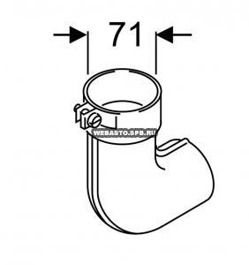 465135Z Патрубок выхлопной (металл) / СЕ
