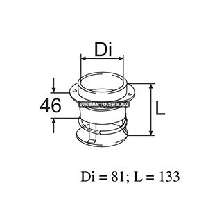 220701 Патрубок выхлопной д=81, дл= 133мм
