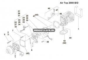 графический каталог запчастей для Air Top 2000 дизель 24В